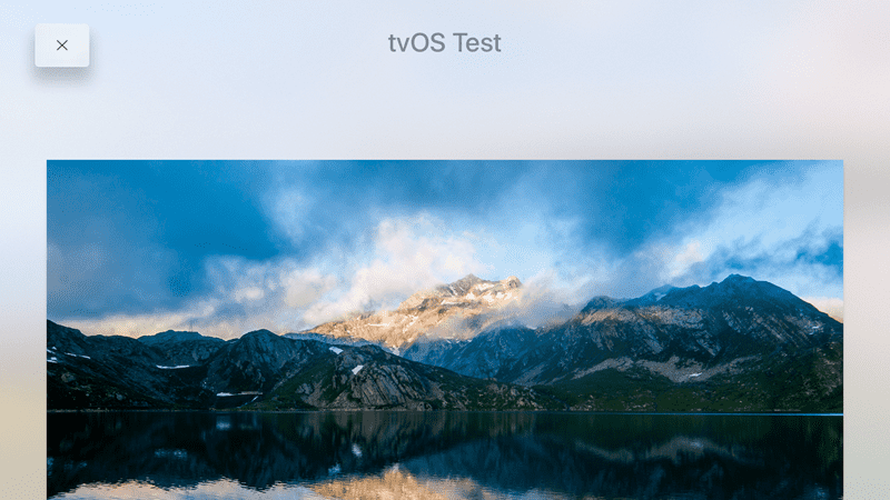 images in apple tv